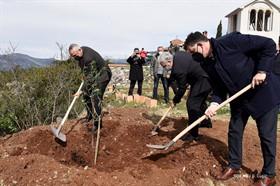PM Krivokapić plants olive tree in Tivat in memory of coronavirus victims in Montenegro