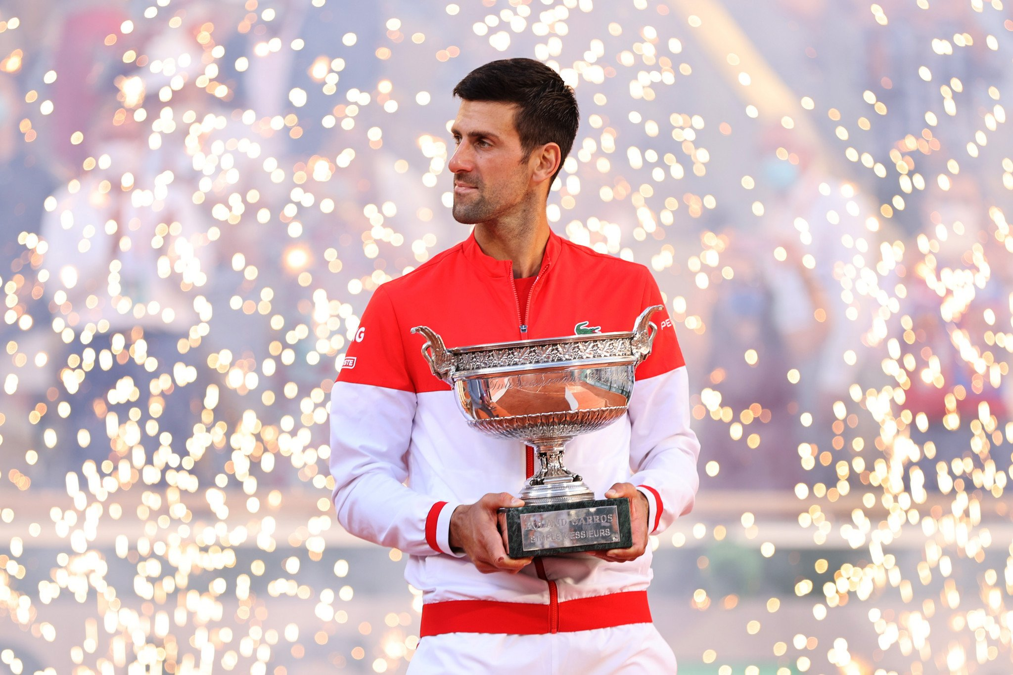 Novak Djokovic fought back from two sets down to win the French Open - his 19th Grand Slam victory ©Getty Images