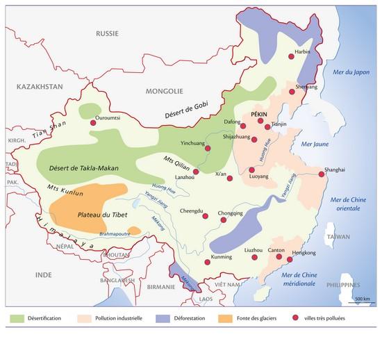 Les menaces sur l'environnement en Chine