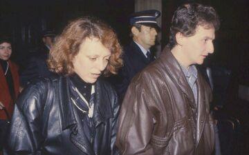 Christine et Jean-Marie Villemin, les parents de Grégory, à la sortie du palais de Justice de Dijon en octobre 1989. LP/Vincent Lesage
