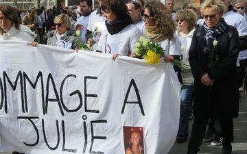 Muriel Robin, le 9 mars 2019 à Vaires-sur-Marne (Seine-et-Marne), lors de l'hommage à Julie, à laquelle le documentaire de RMC Story est consacré.