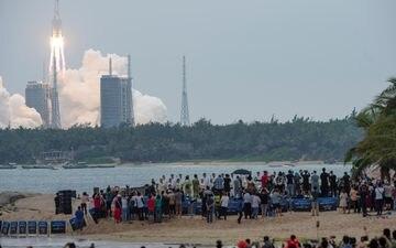 La Longue Marche 5B a décollé le 29 avril dernier. REUTERS/China Daily