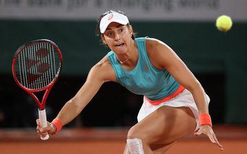 Caroline Garcia avait déjà collaboré avec l'Espagnol Gabi Urpi en équipe de France de Fed Cup. LP/Arnaud Journois