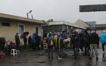 Dammarie-les-Lys (Seine-et-Marne), le 13 octobre 2020. Des Moldaves de ce squat créé sur le site d'une entreprise désaffectée ont été victimes de cette filière. LP/Sophie Bordier