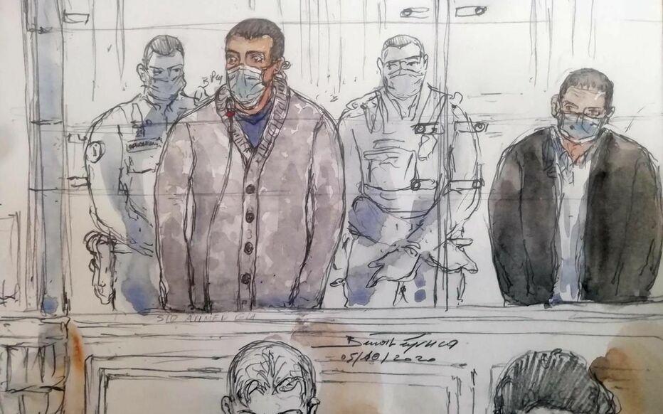 Sid-Ahmed Ghlam (ici  le 5 octobre) a accueilli ces réquisitions avec le même détachement qu'il arbore depuis le début de son procès.