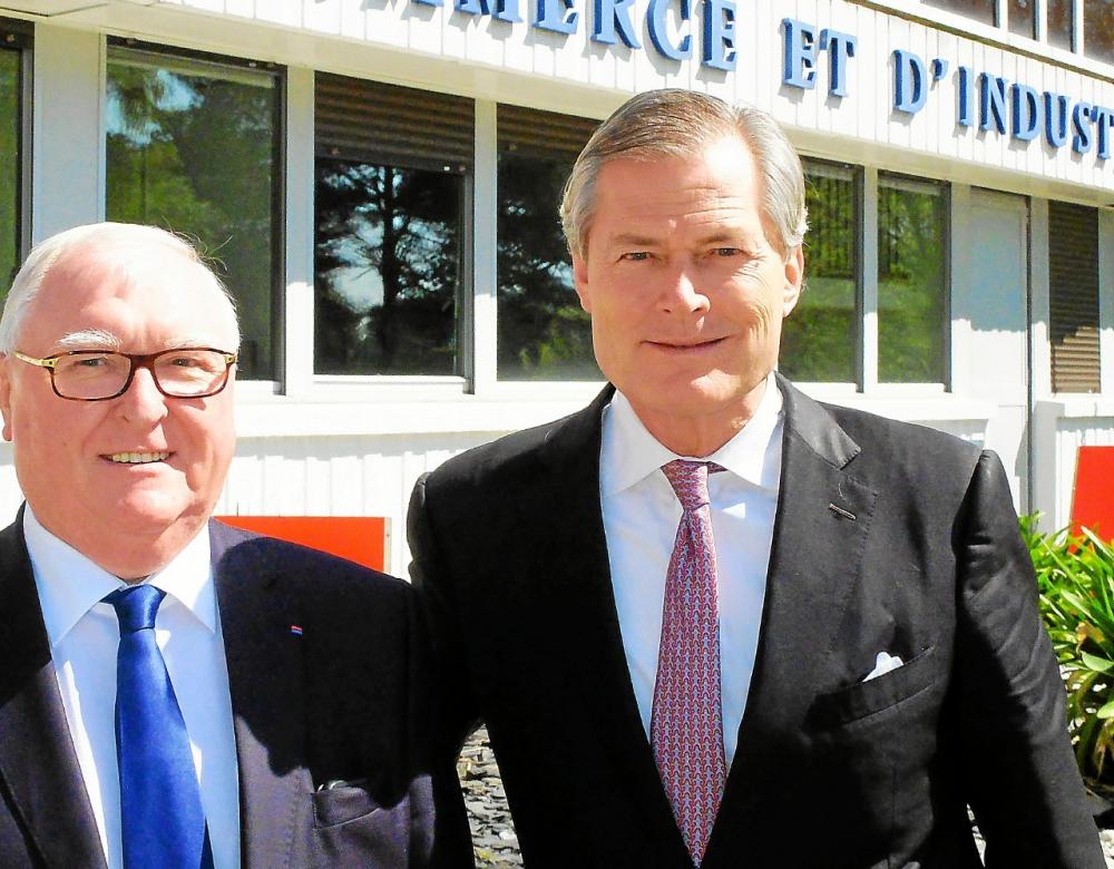 Jean-François Garrec et Gunter Pauli. Les relations entre la CCI et la fondation Zeri ont duré deux ans. (Photo d'archives)