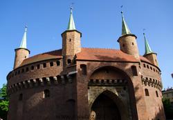 barbacane de Cracovie en Pologne.