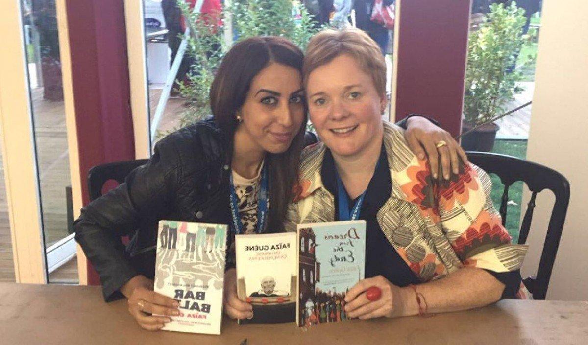 Faiza Guene and Translator Sarah Ardizzone (credit)
