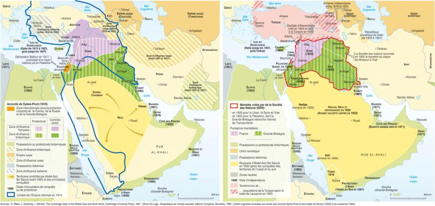 Des accords Sykes-Picot... Au Proche-Orient contemporain