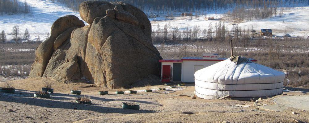 Paysages de la steppe mongole.