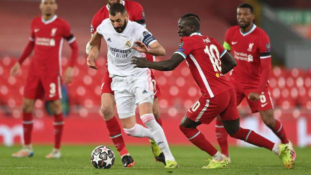 Karim Benzema against Liverpool