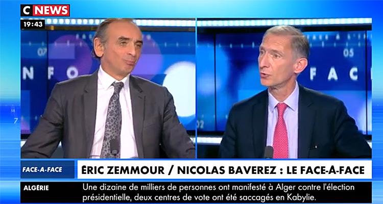 Face à l'info (audiences): Eric Zemmour bat tous les records, Christine Kelly hisse CNews leader