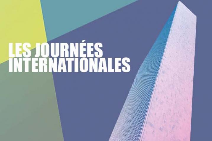 Illustration : perspective du bâtiment du Secrétariat de l'ONU et titre, les journées internationales.
