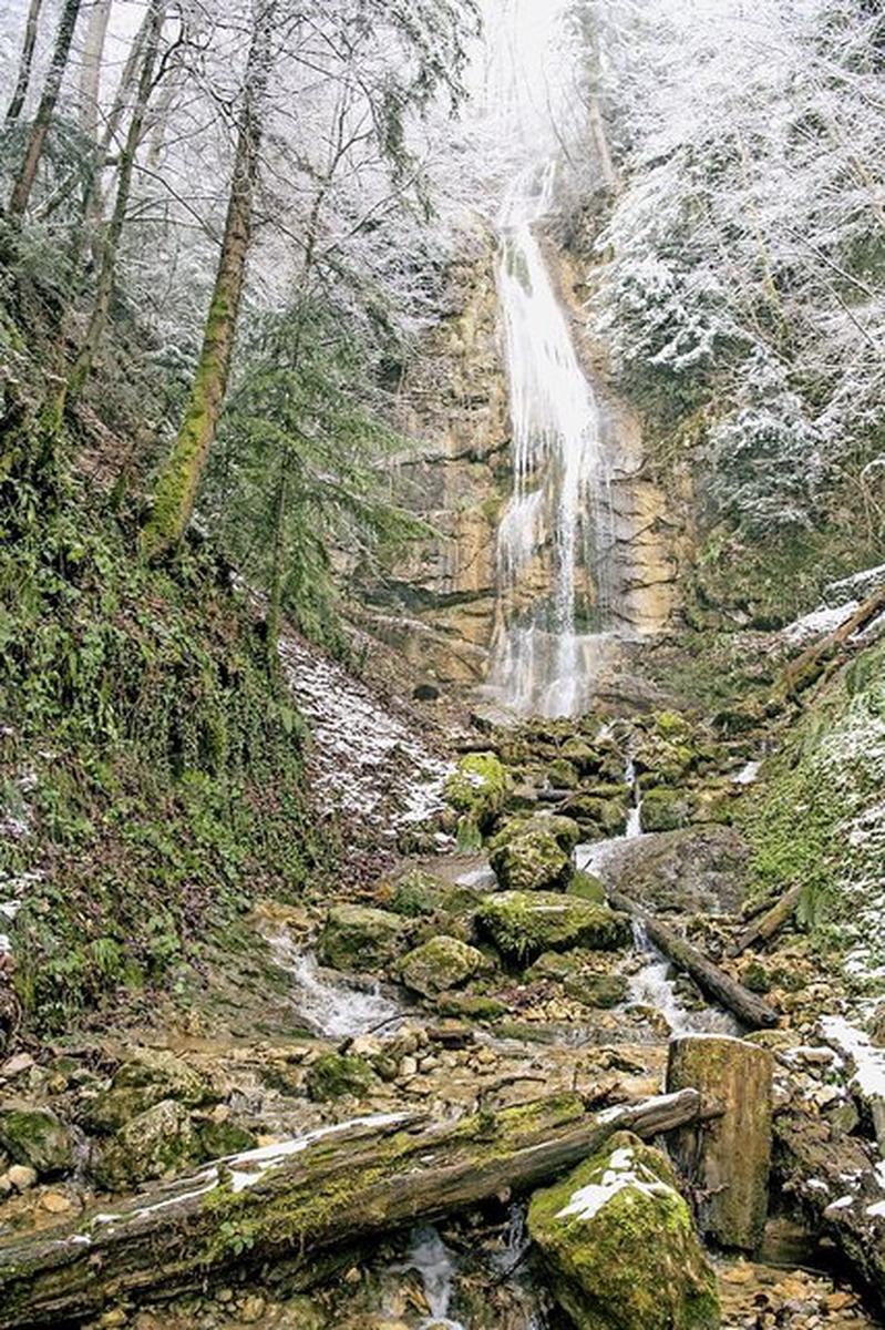 Les restes de Maëlys ont été découverts le 14 février dans le secteur de la cascade de La Pissoire. La gendarmerie et la justice ont été conduites dans la forêt d'Attignat-Oncin (Savoie) par le tueur acculé.