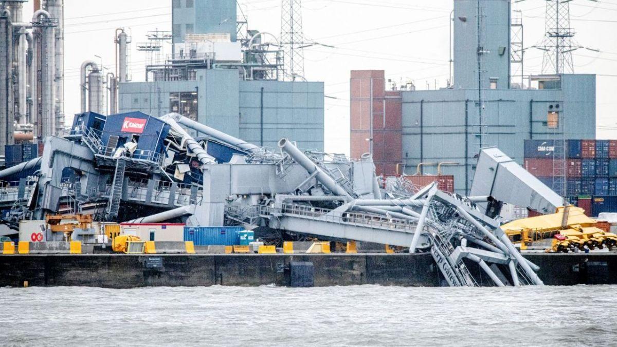 VIDÉO. Belgique : un navire de 330 mètres percute une grue dans le port d'Anvers
