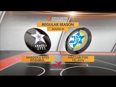 EuroLeague Highlights RS Round 26: Anadolu Efes Istanbul 92-87 Maccabi FOX Tel Aviv
