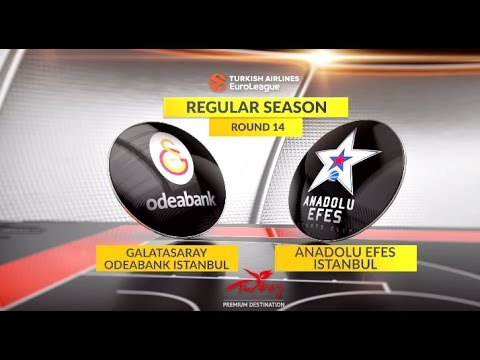 EuroLeague Highlights RS Round 14: Galatasaray Odeabank Istanbul 76-86 Anadolu Efes Istanbul