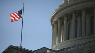 Drapeau américain congrès capitole Whashington