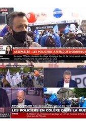 Manifestation de la police : les chaînes d'info co-écrivent l'histoire avec les syndicats de police
