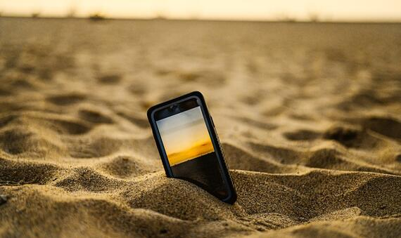 Phone in Sand